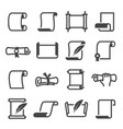 paper scroll icon set document and manuscript vector image vector image