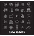 real estate editable line icons set on vector image vector image
