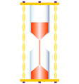 Realistic sand glass vector image vector image