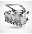 Retro turntable isolated vector image