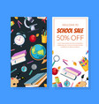 school sale special offer flyer template vector image vector image