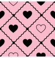 seamless vector background with hearts vector image