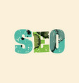 seo concept colorful stamped word vector image vector image