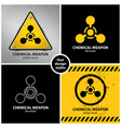 set chemical weapon symbols vector image vector image