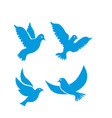 set flying birds sign isolated on white vector image vector image