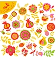 set of colorful cute flowers vector image