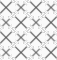 Shades of gray crossing double T shapes with vector image vector image