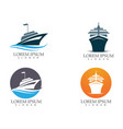 ship filled outline icon transport and boat image vector image vector image