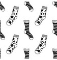 socks black and white seamless pattern for vector image vector image
