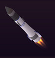 space rocket icon isometric style vector image