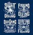 t-shirt prints underwater animals vector image vector image