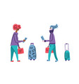 travel flat concept color vector image