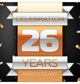 Twenty sixyears anniversary celebration golden and vector image vector image