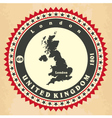 Vintage label-sticker cards of United Kingdom vector image