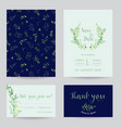 wedding invitation floral templates set vector image vector image