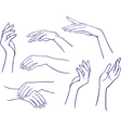 Woman hands collection vector image