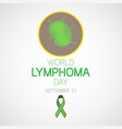 world lymphoma day icon vector image vector image