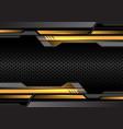 yellow light dark gray futuristic on circle mesh vector image vector image