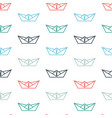 seamless pattern with color paper boats vector image