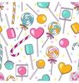 doodle lollipops pattern Bright sweet food vector image