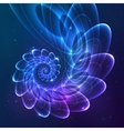 Blue abstract fractal cosmic spiral vector image