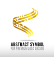 Abstract premium gold and spiral logo symbol vector image vector image