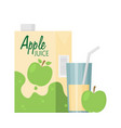 apple juice box vector image vector image