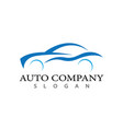 auto car icon vector image