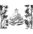 bamboo and buddha seamless pattern vector image