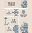 banners on theme sea adventure vector image