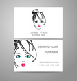 Barber logo template identity card vector image