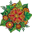 Beautiful hand drawn flower with many details vector image vector image