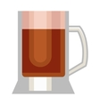 Beer cup glass vector image vector image