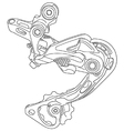 Bicycle rear derailleur vector image vector image