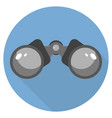 binoculars icon flat design long shadow blue vector image vector image