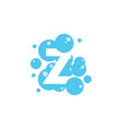bubble with initial letter z graphic design vector image vector image
