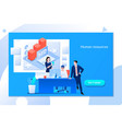 business hr concept recruiting staff in company vector image