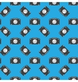 Camera sign seamless pattern on blue background vector image vector image