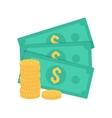 Cash money vector image