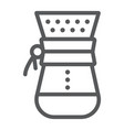 chemex line icon coffee and cafe coffeemaker vector image