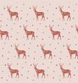 christmas pattern seamless deer vector image vector image