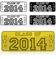 Class of 2014 stickers vector image