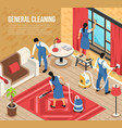 cleaning service isometric vector image