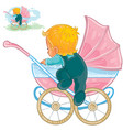 clip art of little baby crawls vector image vector image