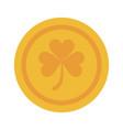 Coin of gold clover or shamrock saint patricks day