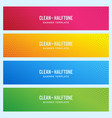 colorful banner with halftone pattern vector image