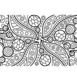 coloring book page with abstract cosmic art vector image vector image