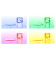 Colour cubes of ice vector image vector image