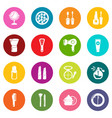 cosmetics icons set colorful circles vector image vector image