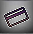 credit card symbol for download violet vector image vector image
